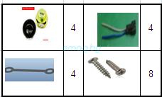 Комплект динамиков для KingSong KS 18A, 18S