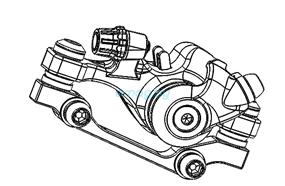 Тормозной суппорт в сборе для Dualtron 2S, Limited, Ultra, Raptor