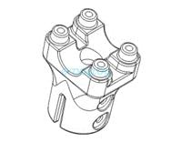 Основание крепления рулевой перекладины для Dualtron 2S, Limited, Ultra, Raptor