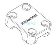 Крышка крепления рулевой перекладины для Dualtron 2S, Limited, Ultra, Raptor