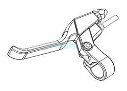 Левая тормозная рукоятка в сборе для Dualtron 2S, Limited, Ultra, Raptor