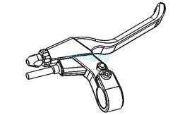 Правая тормозная рукоятка в сборе для Dualtron 2S, Limited, Ultra, Raptor
