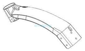 Корпус переднего рычага для Dualtron 2S, Limited, Ultra, Raptor