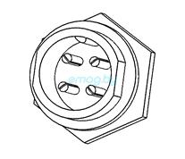 Разъем зарядного устройства 4 пин для Dualtron 2S, Limited, Ultra, Raptor