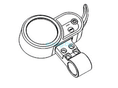 Бортовой компьютер с встроенным курком газа для Dualtron 2S, Limited, Ultra, Raptor